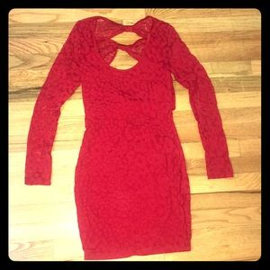 Fredericks of Hollywood Bow Back Red Dress